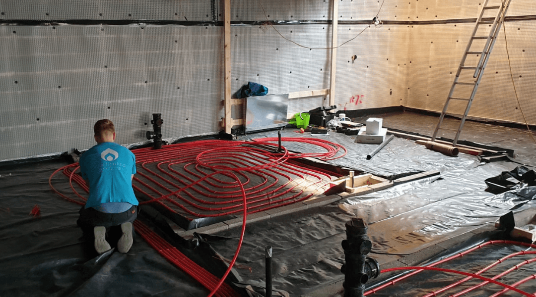 underfloor heating commercial building UFH plumbing