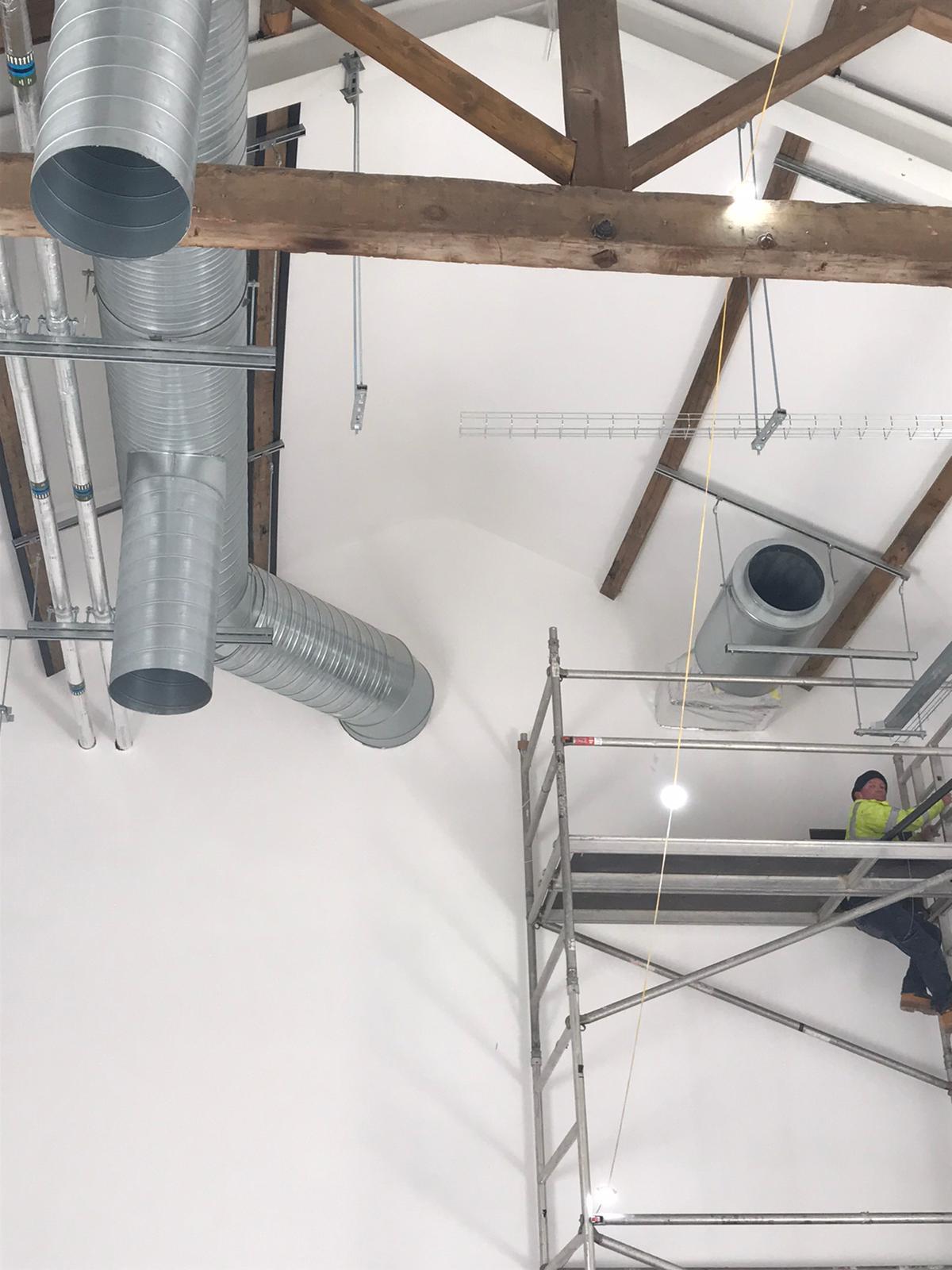 The Whitaker Museum ducting ventilation Lancashire